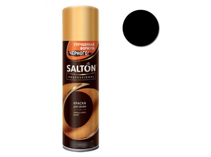 Краска для обуви замши/нубука Черная Salton Professional