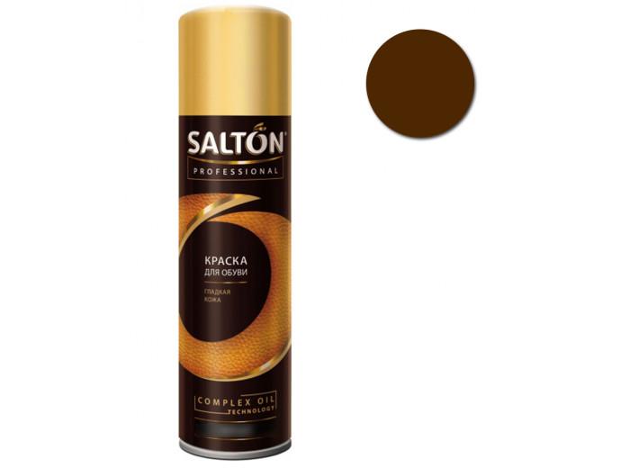 Краска для обуви гладкая кожа т. Коричневая Salton Professional