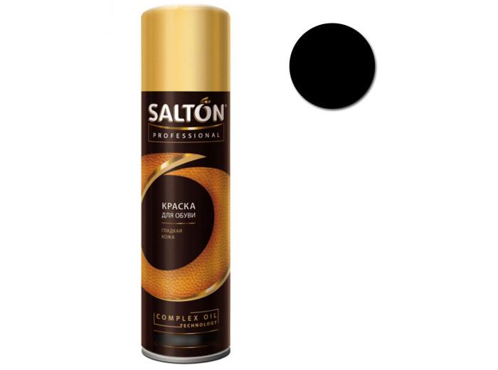 Краска для обуви гладкая кожа Черная Salton Professional