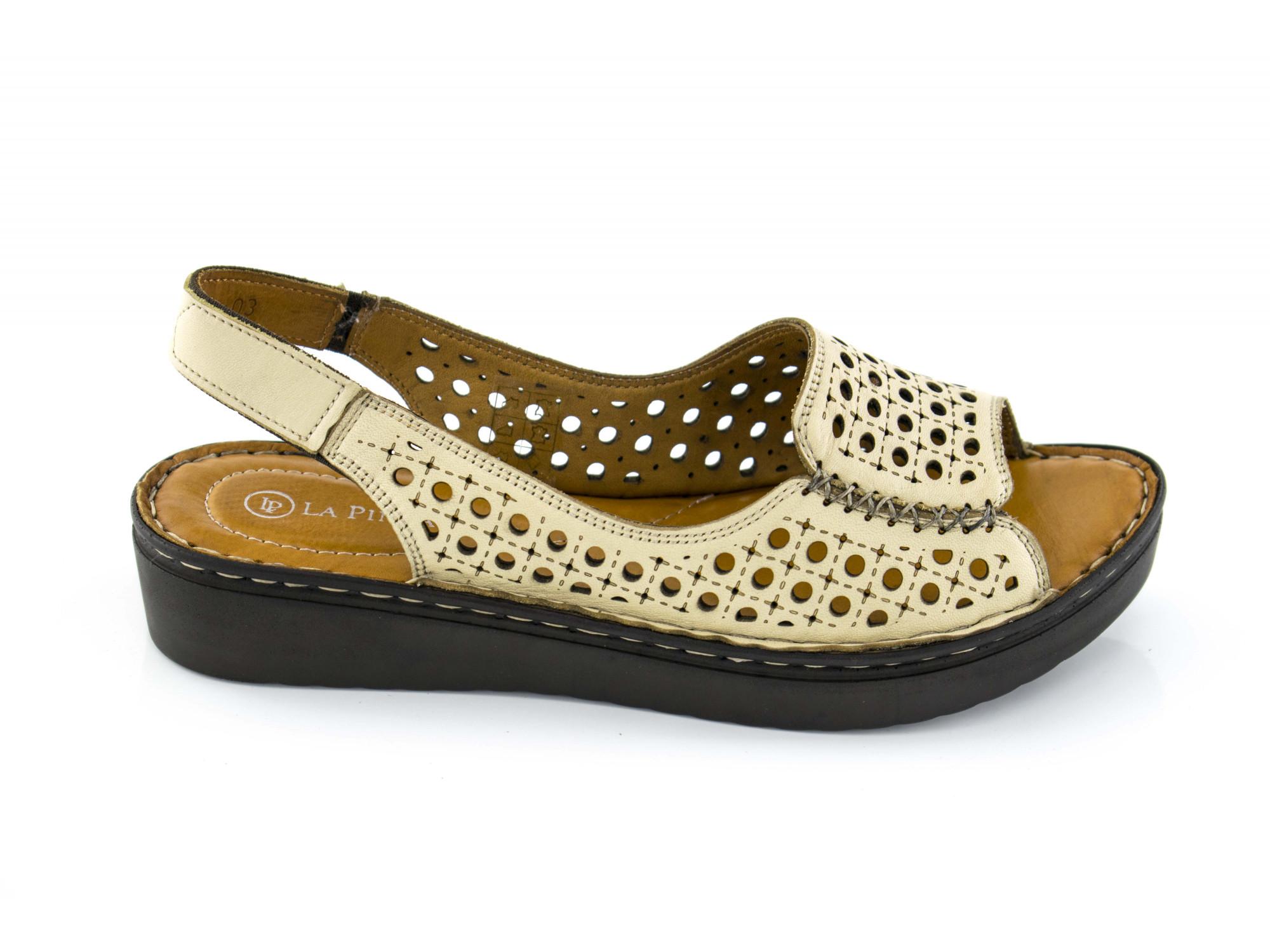 Женские ботинки челси Jarpex 3350 бежевые, натуральная кожа.
