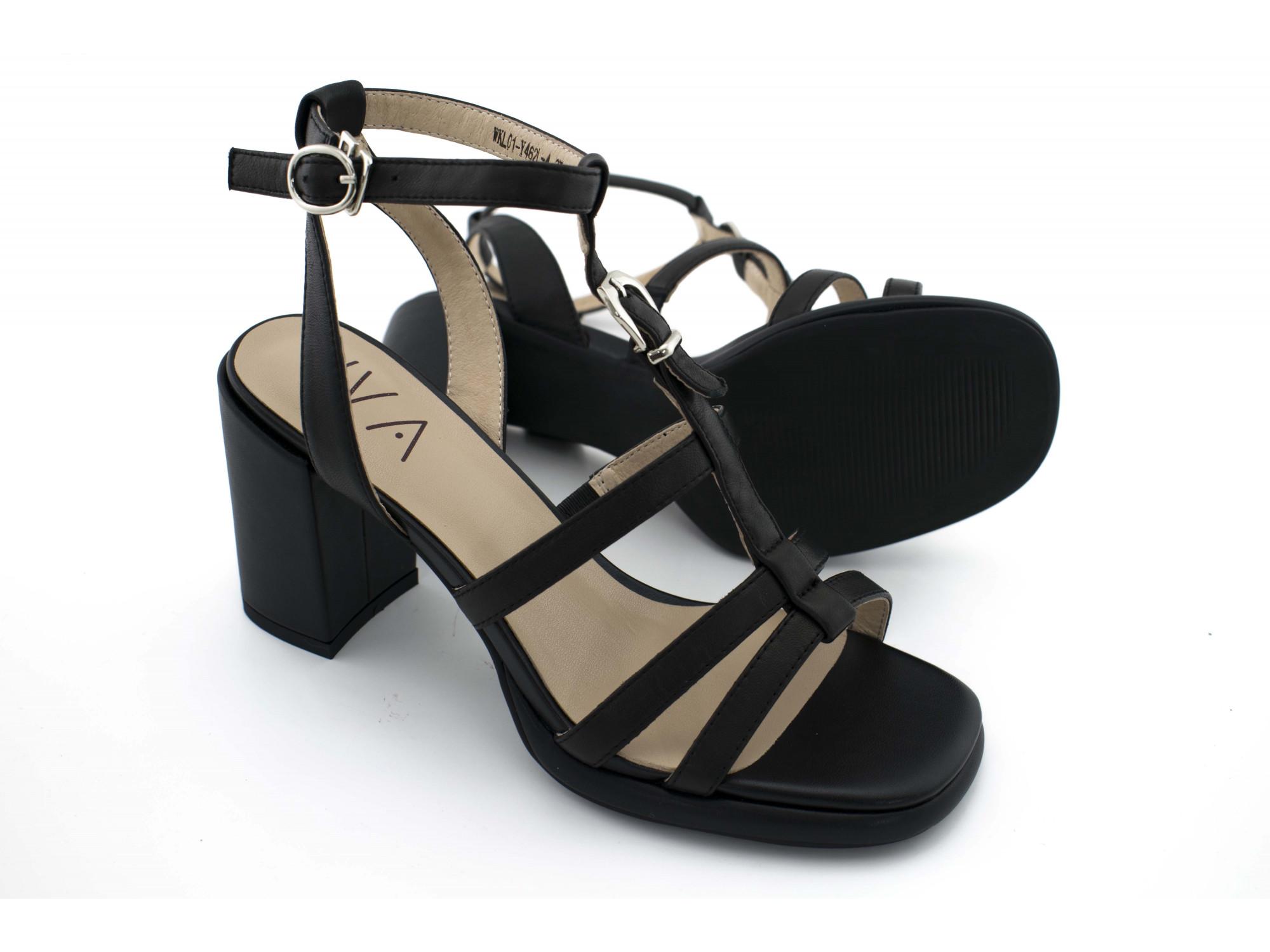 Летние туфли IVA WKL01 Черные
