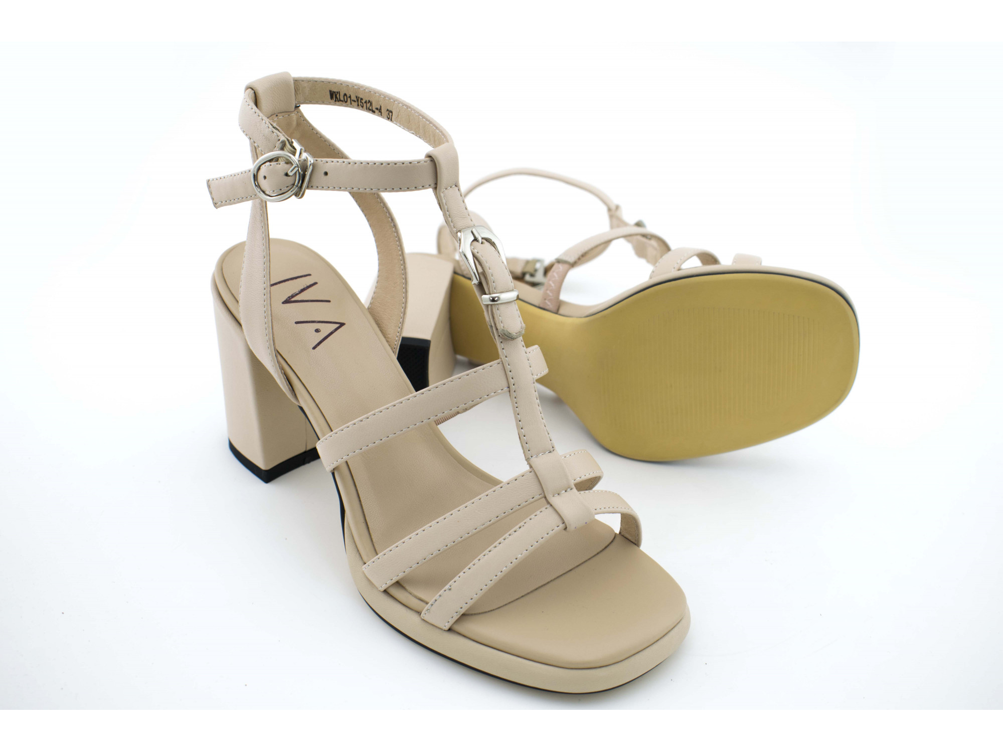 Летние туфли IVA WKL01 Бежевые