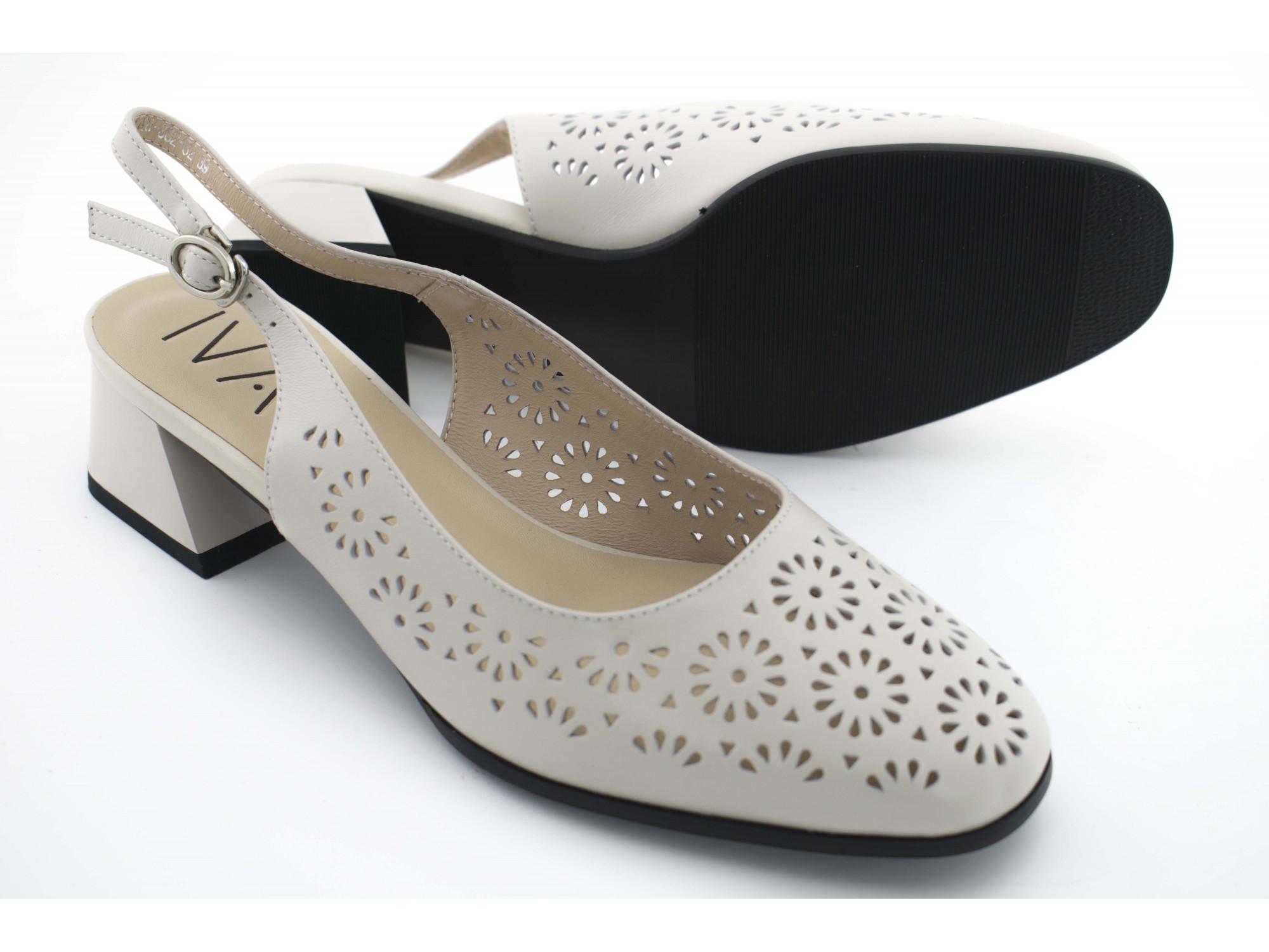 Летние туфли IVA A1528 Бежевые