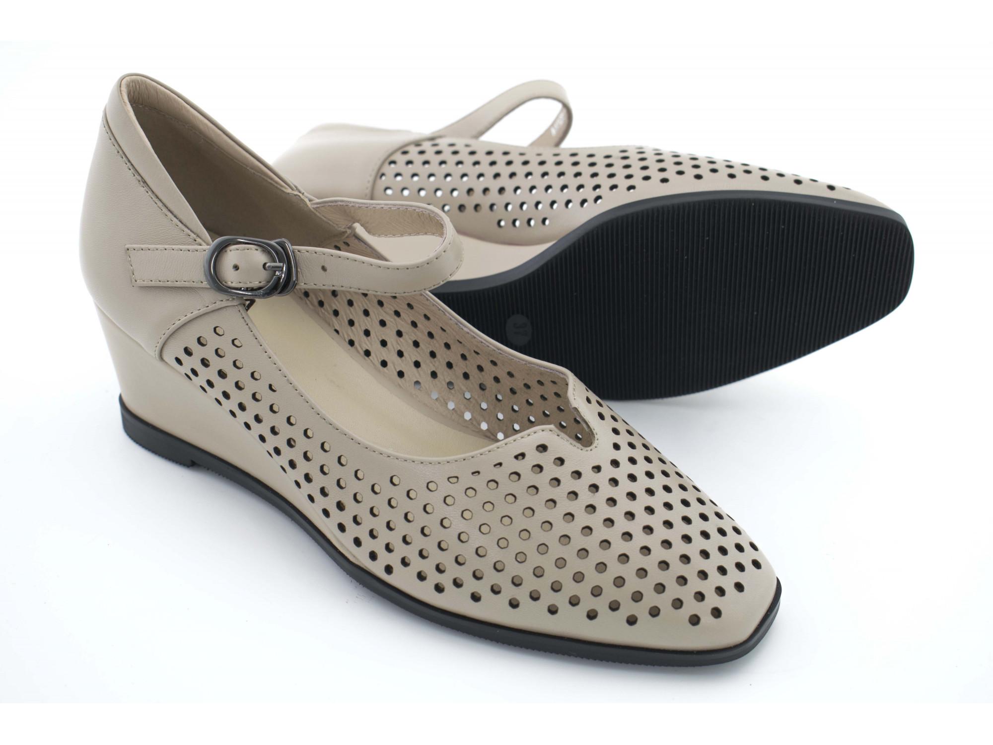 Летние туфли IVA A1525 Бежевые