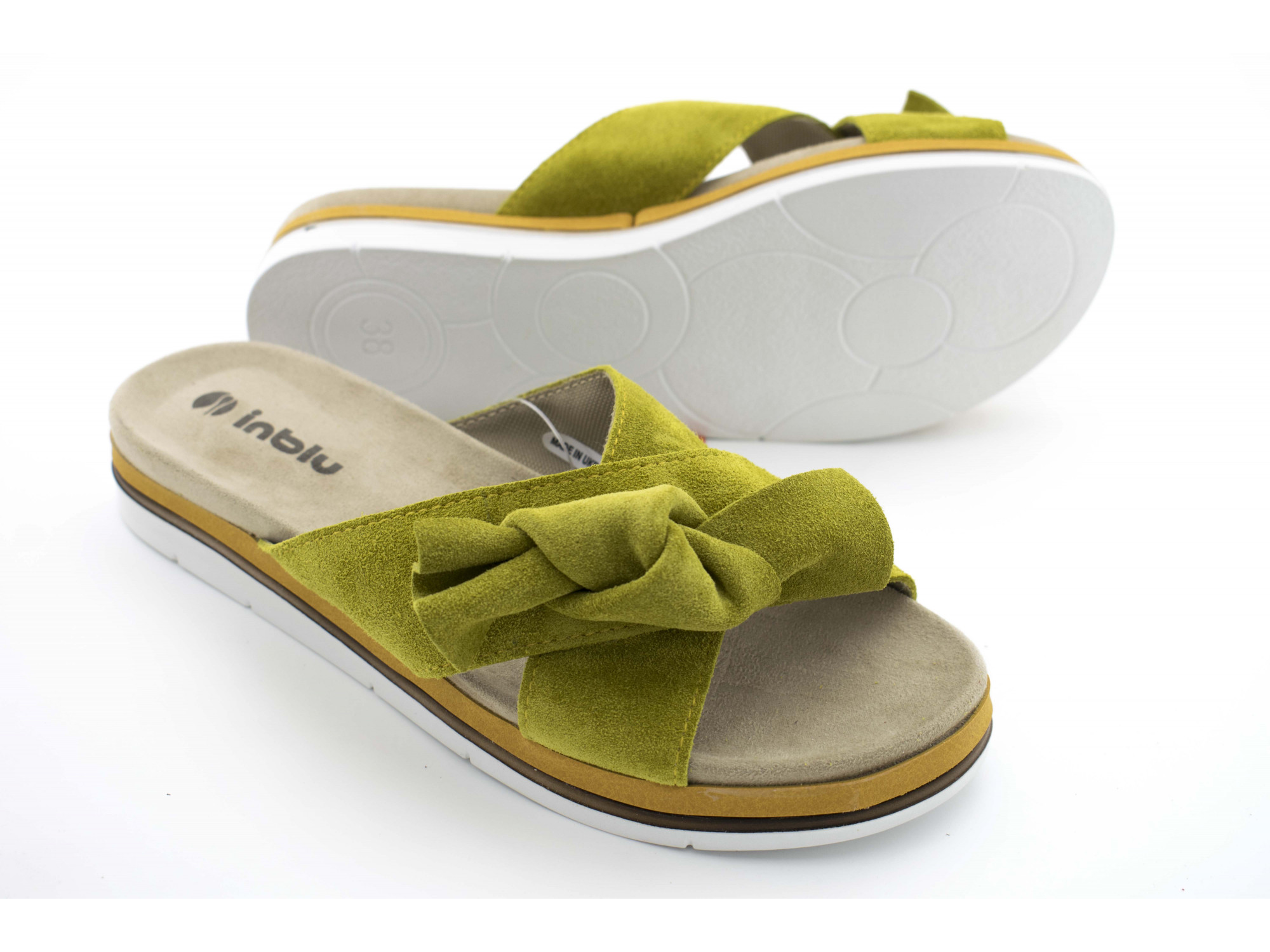 Шлепки Inblu NB-4E Зеленые